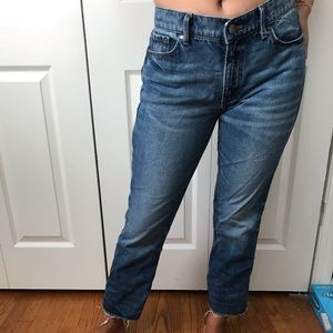 Banana republic cropped flair jeans